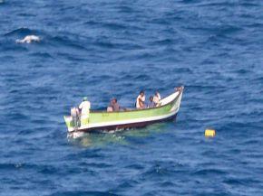 Ein Speedboot der Piraten
