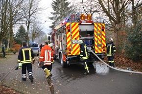 Feuerwehr vor Ort im Einsatz