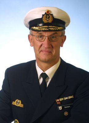 Archivbild: Der zukünftige Befehlshaber der Flotte, Konteradmiral Manfred Nielson. Foto: Bundeswehr.