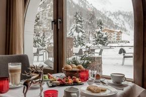 Blick vom Frühstückstisch aus dem Chalet Silvretta Hotel & Spa ****