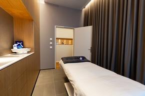 Behandlungsraum für Beauty- und Body-Anwendungen im NIVEA-Haus des a-ja City-Resort in Zürich (c)Christopher Tiess für a-ja Resort und Hotel GmbH