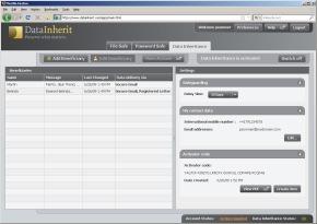 DataInherit - Der erste Internet-Datensafe mit Datenvererbung