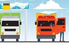 ADAC Truck Service warnt vor fliegenden Eisplatten / Eisplatten auf Lkw-Dächern können zu Geschossen werden / Die besten Tipps für die Enteisung