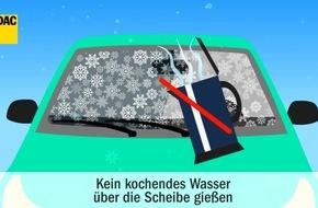 Kein heißes Wasser auf die Windschutzscheibe / ADAC-Tipps für das Autofahren im Winter