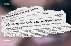 """Fiese Tricks: 110-Betrugsanrufe / """"Marktcheck"""", SWR Fernsehen"""