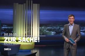 """""""Zur Sache Baden-Württemberg"""" / Donnerstag, 27. Oktober 2016, 20.15 bis 21 Uhr, SWR Fernsehen in Baden-Württemberg"""