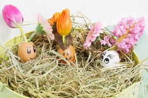 Osterdeko für Kinder: Lustiges Osternest. Foto: ©Fleurop AG