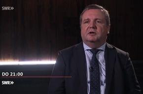 """Stefan Mappus schließt Rückkehr in die Politik nicht aus / """"Die Stefan-Mappus-Story"""", SWR Fernsehen"""