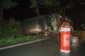 FW Menden: Verkehrsunfall - Kein Fahrer im verunfallten PKW