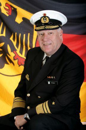 Archivbild: Der scheidende Befehlshaber der Flotte, Vizeadmiral Hans-Joachim Stricker. Foto: Deutsche Marine.