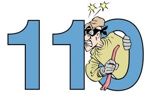 Symbolbild: Ein rechtzeitiger Notruf 110 bremst Einbrecher aus !