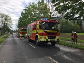 FW Ratingen: Rollerfahrer bei Unfall schwer verletzt - Rettungshubschrauber im Einsatz