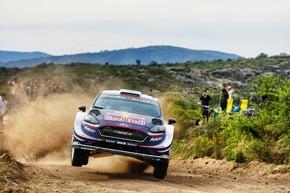 """M-Sport Ford geht bei der Rallye Portugal mit hohen Erwartungen an den Start: Elfyn Evans/Daniell Barritt und Teemu Suninen/Mikko Markkula in weiteren Fiesta WRC von M-Sport Ford verfolgen ebenfalls ambitionierte Ziele. Weiterer Text über ots und www.presseportal.de/nr/6955 / Die Verwendung dieses Bildes ist für redaktionelle Zwecke honorarfrei. Veröffentlichung bitte unter Quellenangabe: """"obs/Ford-Werke GmbH/M-Sport Ford"""""""