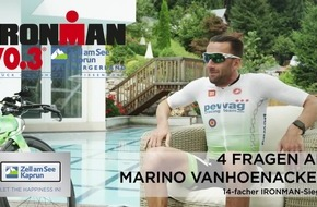 Triathlon-Elite in Zell am See-Kaprun: 14facher IRONMAN-Sieger Marino Vanhoenacker tritt beim IRONMAN 70.3 in der Weltmeisterregion an - VIDEO