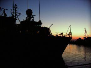 """Archivbild: Minensuchboot/Hohlstablenkboot """"Siegburg"""" im Marinestützpunkt Kappeln. Foto: Ronny Lisker, Deutsche Marine"""
