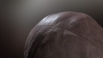 Beispiel für einen Oberflächenscan: Leder (Foto: APEC Visual)