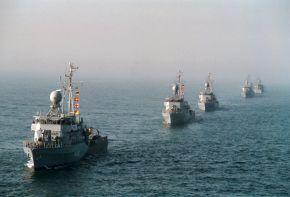 Archivfoto: 5. Minensuchgeschwader in Kiellinie. Foto: Deutsche Marine