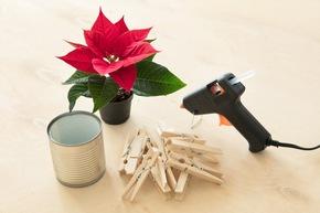 Der persönliche Weihnachtsstern-Tischgruß lässt sich mit wenigen und einfachen Materialien umsetzen, die in den meisten Haushalten ohnehin vorhanden sein dürften.