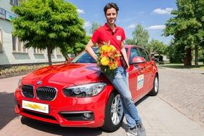Postcode-Gewinnerin auf Spritztour in Muldestausee