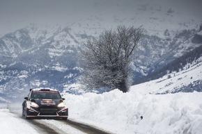 """Nachwuchstalent Teemu Suninen - hier mit dem Fiesta R5 bei der Rallye Monte Carlo - freut sich auf seine erste Rallye Schweden am Steuer des Ford Fiesta WRC. Weiterer Text über ots und www.presseportal.de/nr/6955 / Die Verwendung dieses Bildes ist für redaktionelle Zwecke honorarfrei. Veröffentlichung bitte unter Quellenangabe: """"obs/Ford-Werke GmbH/@World Media Agency"""""""