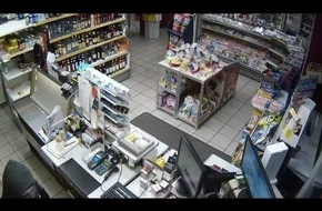 POL-ST: Greven-Reckenfeld, Raubüberfall auf eine Tankstelle  Täter ist flüchtig / Video des Tatablaufes / Bild vom Täter