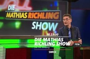 """150. Sendung: Winfried Kretschmann persönlich zu Gast in """"Die Mathias Richling Show"""", SWR Fernsehen"""