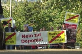 """Mülldeponie direkt am Wohngebiet? Mainzer Bürger empört / """"Zur Sache Rheinland-Pfalz!"""", 4.10.2018, 20:15 Uhr, SWR Fernsehen"""