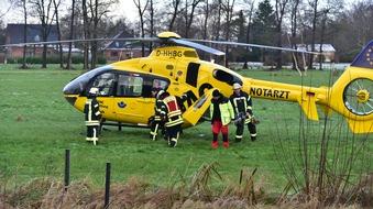 Hubschrauber gelandet