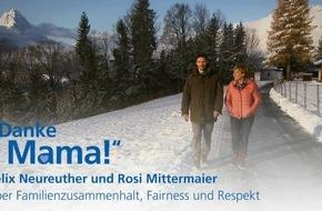"""Zum """"Tag der Komplimente"""" am 24.01. bedankt sich Felix Neureuther bei seiner Mutter Rosi Mittermaier für Werte wie Offenheit und Respekt, die sie ihm vermittelt hat"""