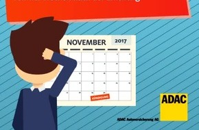 Wechselsaison: Kfz-Versicherung kündigen und sparen / Stichtag 30. November 2017 / ADAC-AutoVersicherung bietet Jubiläumsrabatt bis 6. Dezember 2017
