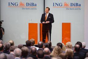 """Der Vorstandsvorsitzende der ING-DiBa AG, Roland Boekhout, bei der Eröffnungsveranstaltung des neuen Hauptgebäudes """"LEO"""" am 14.06.2013 in Frankfurt. Die Verwendung dieses Bildes ist für redaktionelle Zwecke honorarfrei. Veröffentlichung bitte unter Quellenangabe: """"obs/ING-DiBa AG"""""""