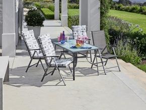 <b>New Mexico 7. – Pos. Stuhl</b><br> Perfekt zum Sonnenbaden und Relaxen. Die Sitzposition kann jederzeit ohne Aufstehen angepasst werden.<br> Maße (H/B/T): 106 x 55 x 67 cm<br> Preis: 49,99 €
