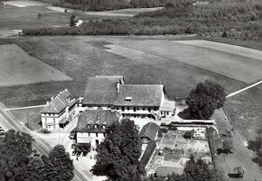 Archivaufnahme: Luftansicht des Chalet-à-Gobet-Viertels, Standort des künftigen Innovation Hubs