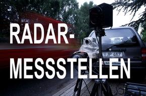 Symbolbild: Radarmessstellen