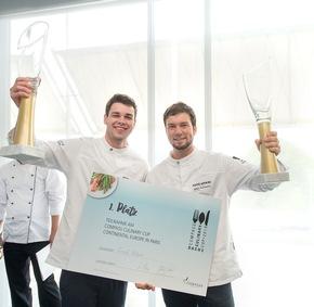 Die Gewinner des Culinary Cup 2018, Julian Schmutzer (rechts) und Martin Weghofer.