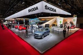 """Auf dem diesjährigen Pariser Autosalon (2. bis 14. Oktober 2018) stellt SKODA AUTO zahlreiche Modellneuheiten vor. Der tschechische Automobilhersteller präsentiert sich in Frankreich sportlich-dynamisch, nachhaltig und als Mobilitätsdienstleister. Weiterer Text über ots und www.presseportal.de/nr/28249 / Die Verwendung dieses Bildes ist für redaktionelle Zwecke honorarfrei. Veröffentlichung bitte unter Quellenangabe: """"obs/Skoda Auto Deutschland GmbH"""""""