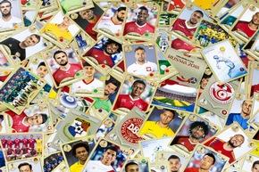 """Vignettes / Panini 2018 FIFA World Cup RussiaTM - Gold Edition / Texte complémentaire par ots et sur www.presseportal.ch/fr/nr/100020842 / L'utilisation de cette image est pour des buts redactionnels gratuite. Publication sous indication de source: """"obs/PANINI SUISSE AG"""""""