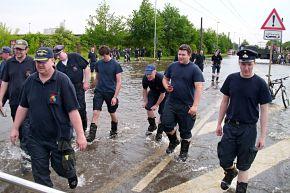 FW-E: Hilfseinsatz in Magdeburg beendet, 650 Feuerwehrleute sind wieder zu Hause