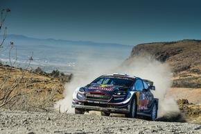 """Im zweiten Ford Fiesta WRC belegten Teemu Suninen und Beifahrer Mikko Markkula bei der Rallye Mexiko den zwölften Platz. Weiterer Text über ots und www.presseportal.de/nr/6955 / Die Verwendung dieses Bildes ist für redaktionelle Zwecke honorarfrei. Veröffentlichung bitte unter Quellenangabe: """"obs/Ford-Werke GmbH"""""""