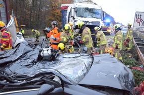 FW Ratingen: Folgemeldung Verkehrsunfall BAB 3