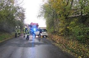 Unfall auf Landstraße
