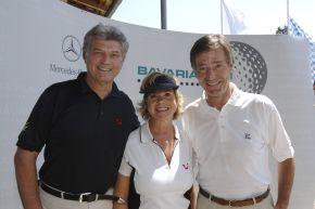 Bavaria Film Cup 2006 am 6. Juli 2006 im Golfclub München-Riedhof. V.l.: Michael und Marianne Hartl mit Bavaria Film-Geschäftsführer Dr. Dieter Frank