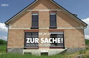 """Zerstört der Traum vom Eigenheim die Natur? """"Zur Sache Baden-Württemberg"""", SWR Fernsehen"""