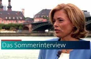 """Sommerinterviews im SWR Fernsehen / Rheinland-pfälzische Spitzenpolitiker und -politikerinnen im Gespräch mit """"SWR Aktuell Rheinland-Pfalz""""-Moderatoren ab 29.6.2018, 19:30 Uhr"""