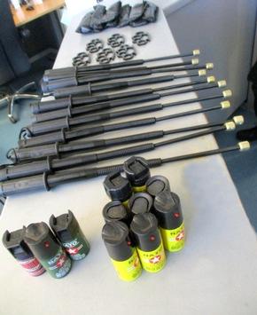 Foto Bundespolizei - sichergestellte Waffen