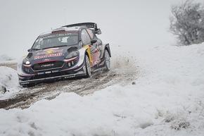 """Ford Fiesta WRC-Pilot Elfyn Evans will in Schweden ein Topresultat erzielen. Weiterer Text über ots und www.presseportal.de/nr/6955 / Die Verwendung dieses Bildes ist für redaktionelle Zwecke honorarfrei. Veröffentlichung bitte unter Quellenangabe: """"obs/Ford-Werke GmbH/@World Media Agency"""""""