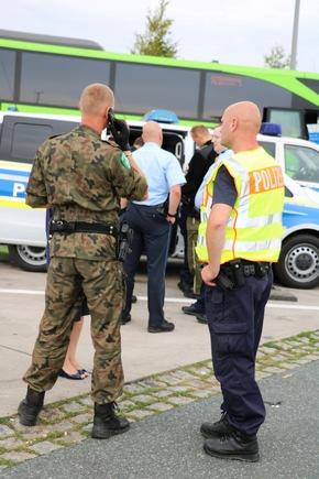 gemeinsame Streife polnischer Grenzschutz