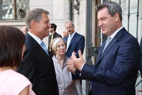 Dr. Markus Söder mit Staatspräsident Klaus Werner Iohannis; ©HSS
