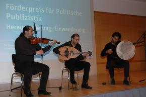 Sorgten für den musikalischen Rahmen: Die Gruppe Jisr Foto: Reiner, HSS