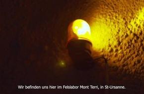 Forschung im Felslabor Mont Terri für die sichere Entsorgung radioaktiver Abfälle: Mit NASA-Sonde Radionukliden auf der Spur